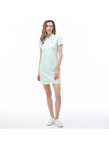 Lacoste Kadın Polo Yaka Elbise EF5473.WXH Mavi